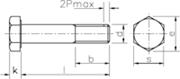 Vite Testa Esagonale gambo parzialmente filettato Zincato Bianco - 57388.8ZBIANCA
