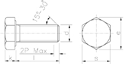 Vite Testa Esagonale gambo interamente filettato Zincato Bianco - 57254.8ZBIANCA