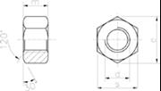 Dado esagonale largo per carpenteria