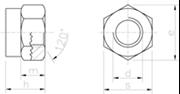 Dado Alto Autobloccante con anello in nylon