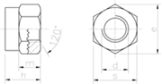Dado Alto Autobloccante con anello in nylon Zincato Bianco