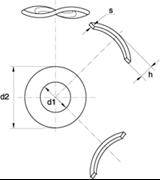 Rondelle Elastiche Ondulate Z.D. Bianco