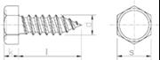 Vite Autofilettante Testa Esagonale Zincato Bianco