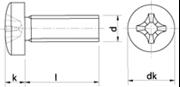 Vite Testa Cilindrica Impronta Croce Zincato Bianco
