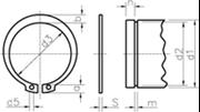 Anelli elastici per alberi (Seeger E) Z.D. Bianco