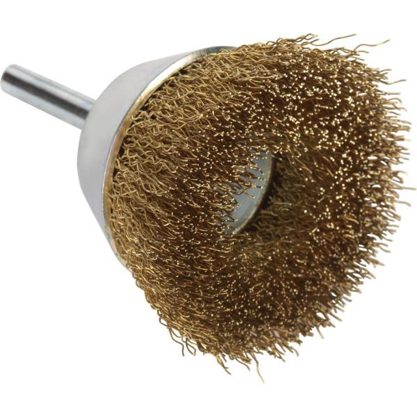 Immagine di Spazzole a tazza con gambo PREMIUM*** per metalli non ferrosi
