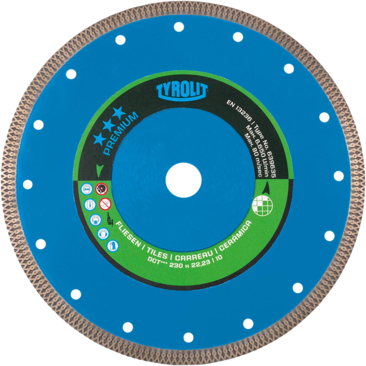 Immagine di DCT Disco diamantato per taglierina per piastrelle e materiali in ceramica
